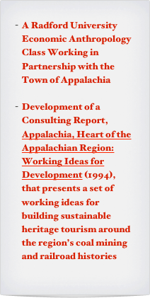 A Radford University  Economic Anthropology Class Working in Partnership with the Town of Appalachia